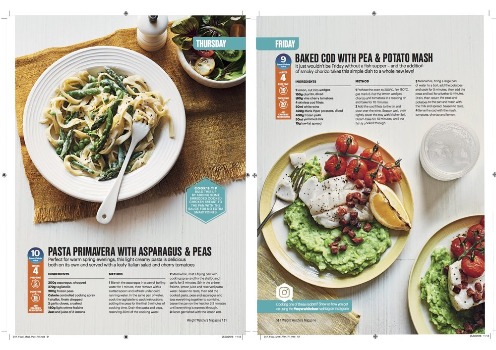 Publication: Weight Watchers magazine April 2018  Photographer: Ria Osborne  Food stylist: Ella Tarn  Prop stylist: Rebecca Newport