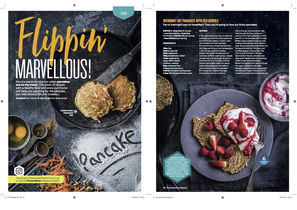 Publication: Weight Watchers magazine March 2018  Photographer: Ant Duncan  Food stylist: Polly Webb-Wilson  Prop stylist: Tonia Shuttleworth