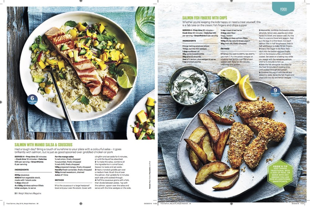 Publication: Weight Watchers magazine May 2018  Photographer: Kris Kirkham  Food stylist: Polly Webb-Wilson  Prop stylist: Luis Peral