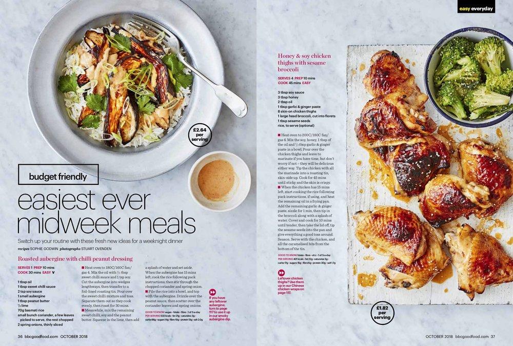 Publication: BBC GoodFood Magazine, October 2018  Photographer: Stu Ovenden  Shoot director: Andrew Jackson  Props stylist: Victoria Eldridge  Recipe: Sophie Godwin