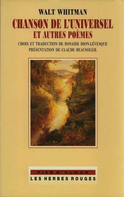 Chanson de l'univers et autres poèmes Walt Whitman, 2002