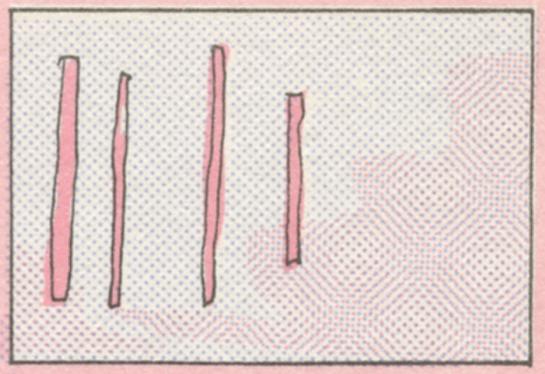 Illustration tirée de Sauterelle dans jouet suivi de Pour une sauterelle il est capable,de Marcel Hébert (nouvelle édition,les herbes rouges, n°5, juillet 1979), par Gisèle Poupart.