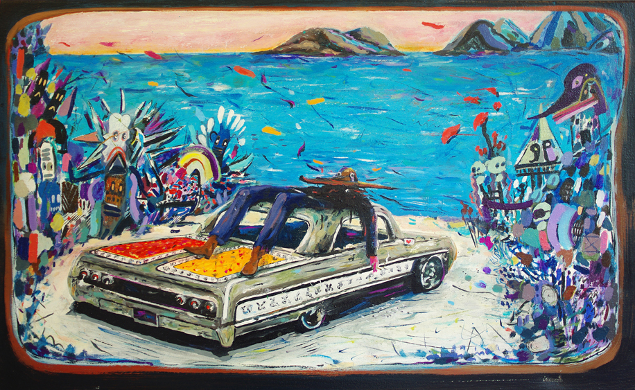 Hangover, best friend,2016, Öl auf Leinwand, 50 x 80 cm