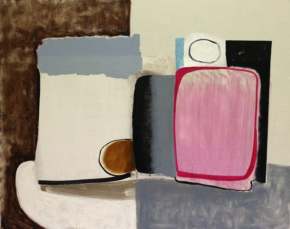 Abb.: Oliver Gröne, 21 (Stilleben), 2017,Acryl und Öl auf Leinwand, 80 x 100 cm