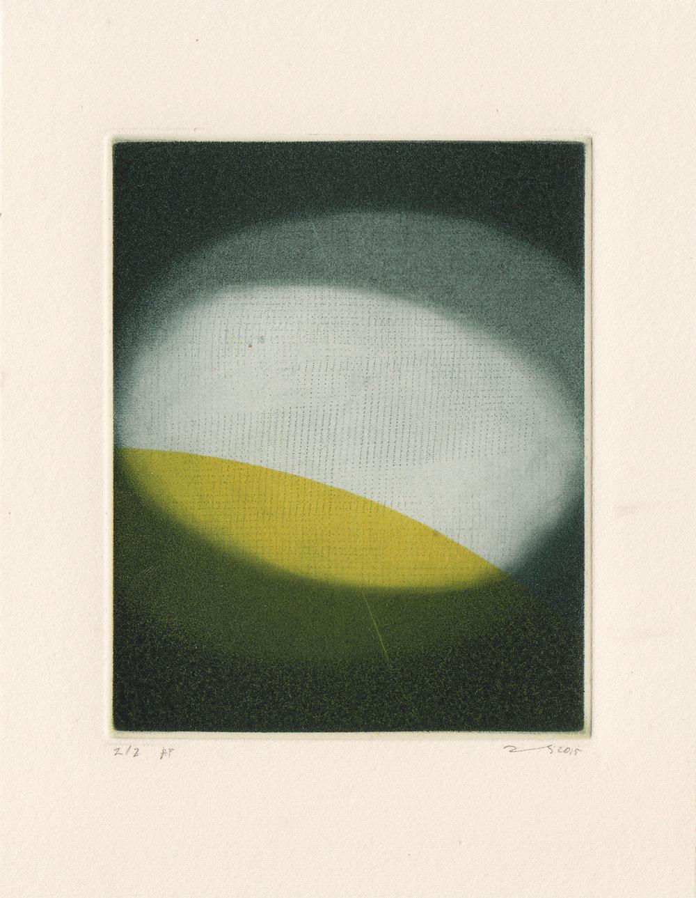 MAJLA ZENELI, A Double Forefront, 2015, Mezzotinto-Druck, 10 x 8 cm