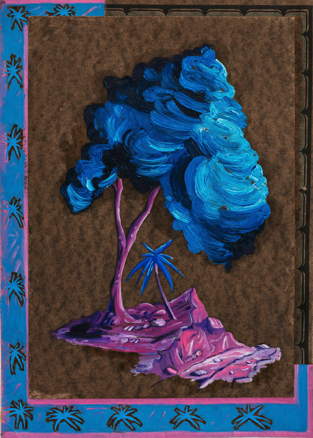 Abb.: David Eager Maher, Blue Tree, 2018