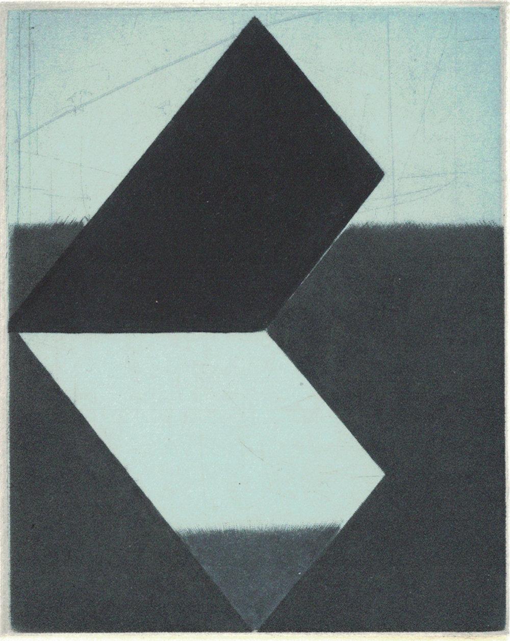 Image: Majla Zeneli, OSAC 6, 2018, Mezzotint Print, 10 x 8 cm