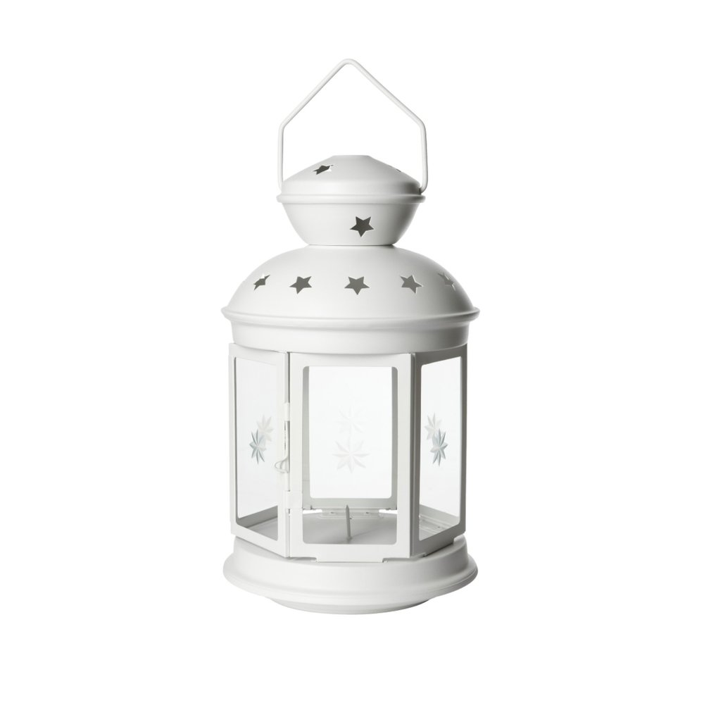 WHITE TEALIGHT LANTERNS