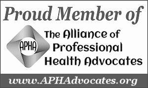 Proud member of the alliance of professional health advocates logo seal