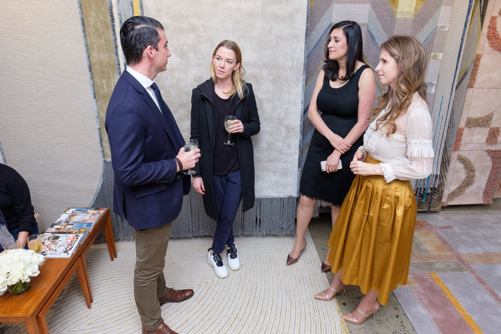 Matthew Bemis (David Kleinberg Design Associates), Bec Brittain (Bec Brittain), Ariana Massouh (Edward Fields), Juliana Polastri (Edward Fields)