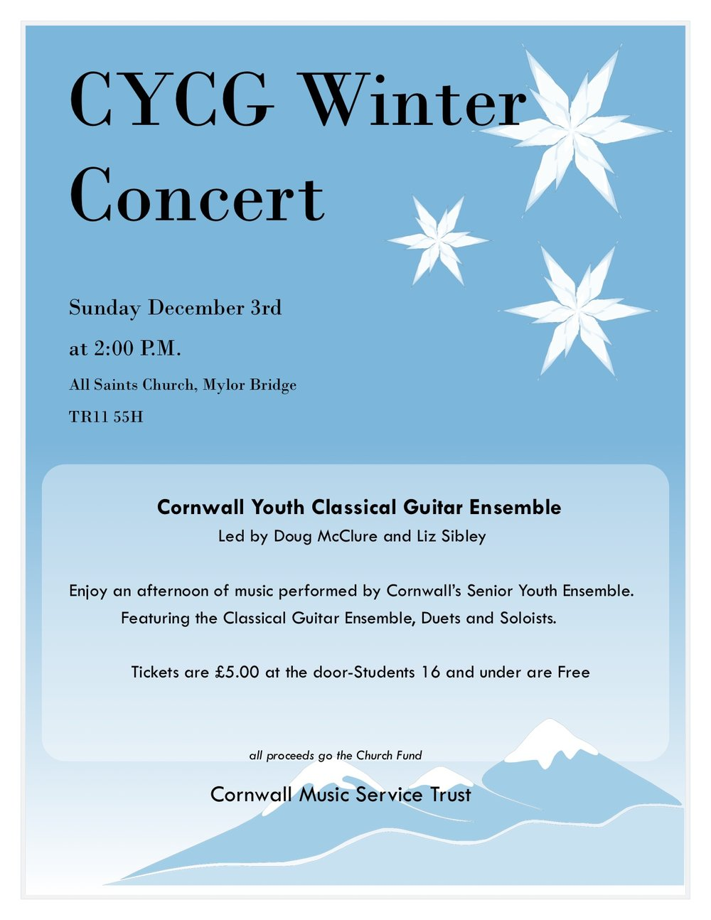 Cornwall Youth Classical Guitar Ensemble Concert — Cornwall