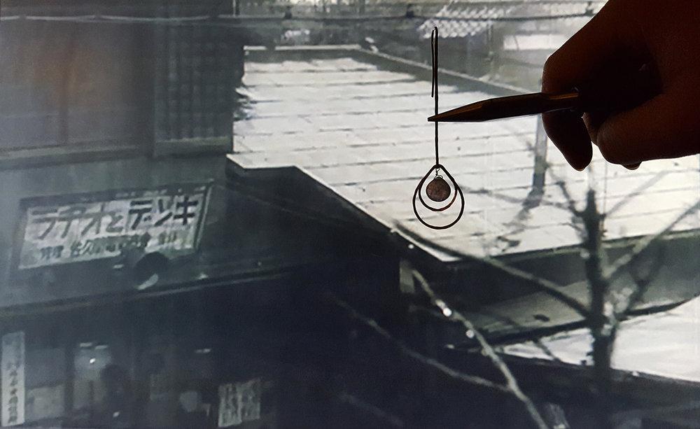 Boucles d'oreilles Pluie, un merveilleux dimanche Akira Kurosawa, inspirations, création de bijou.