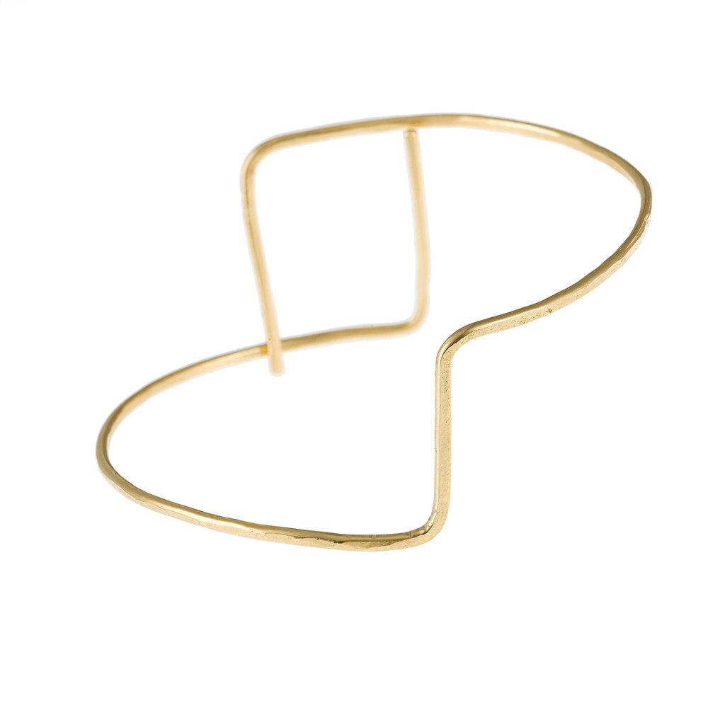Bracelet géométrique, or, vermeil.