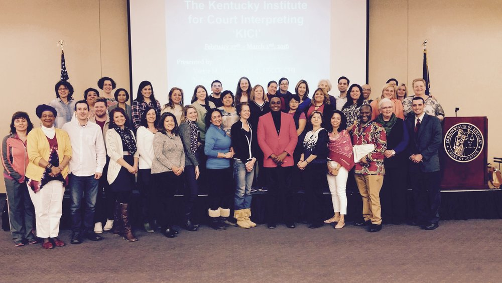 Court Interpreter Training in Kentucky, 2016