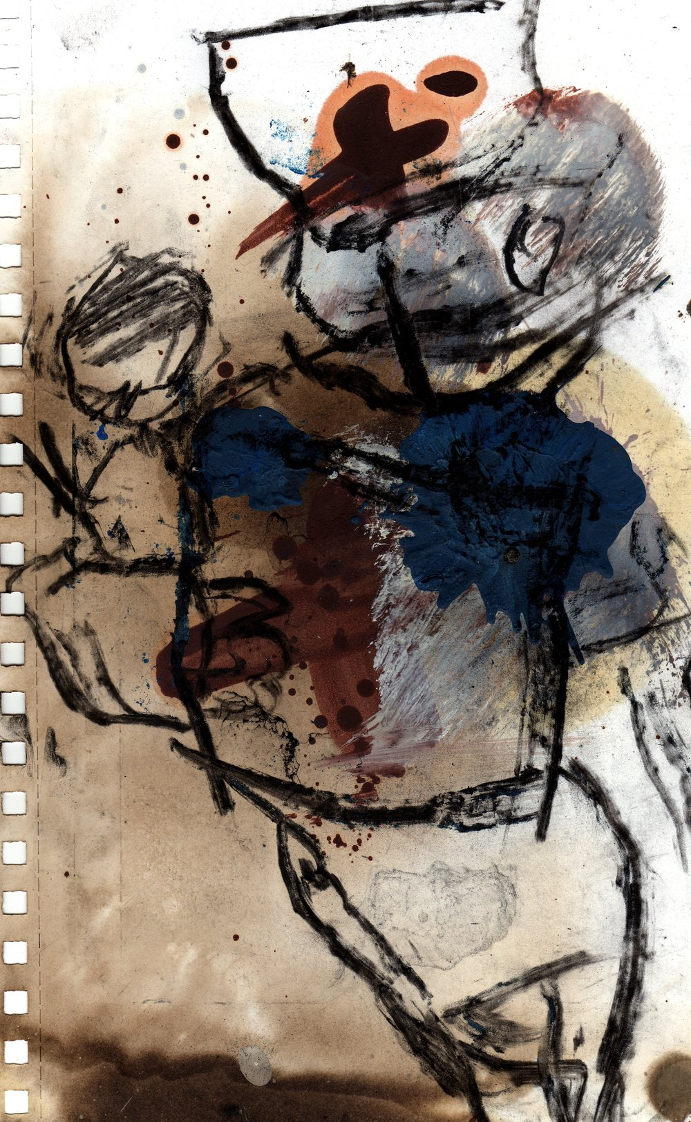 nurse and baby mixed media on paper.jpg