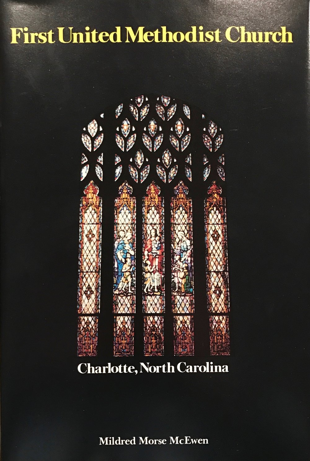For a thorough recounting of the history of First Methodist Charlotte, pick up a copy of Mildred McEwen's book from the 1980s. You can still find used copies on Amazon.