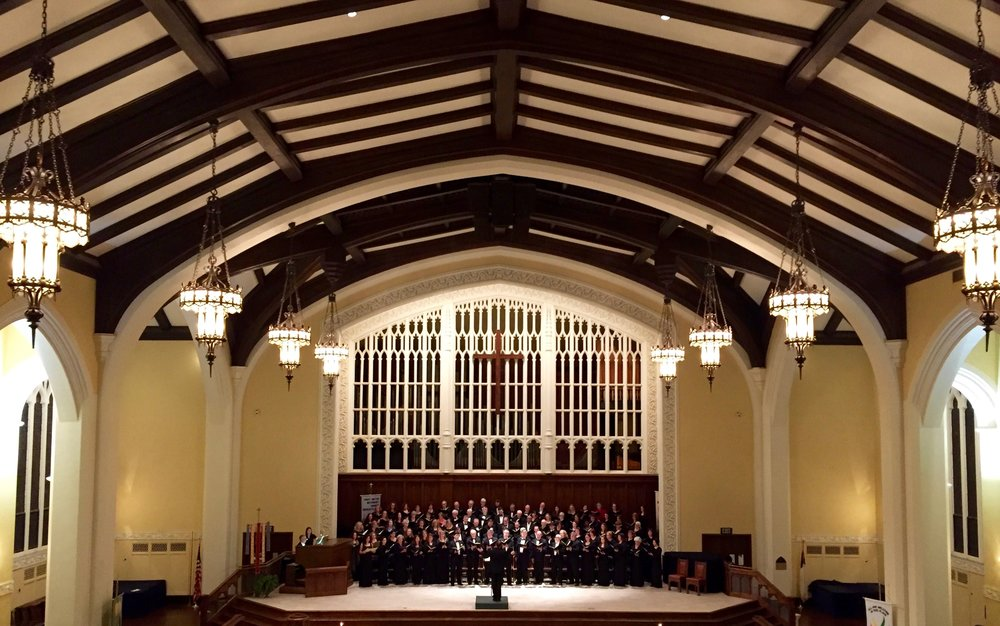 The Charlotte Symphony Chorus performing the Duruflé Requiem. Part of our vision at First Methodist is to promote the arts.