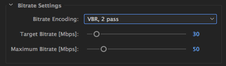 Best Bitrate settings for 4k video to Vimeo.