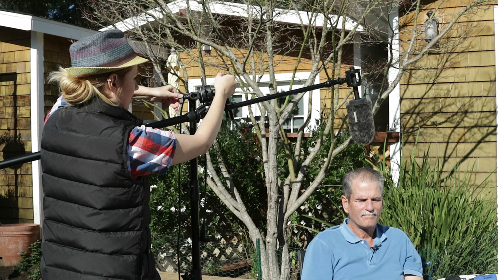 Shotgun Microphone Kit in Action from Sound Course. (That's my dad on the right).