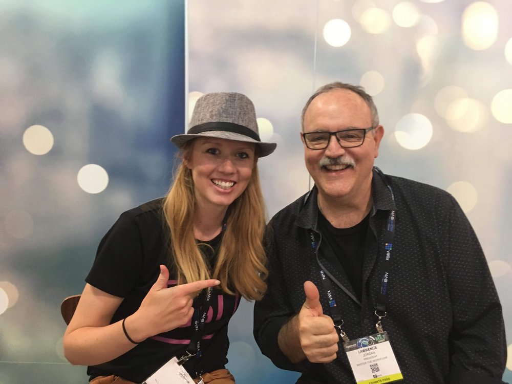 Kelsey (Premiere Gal) and Lawrence Jordan at NAB SHOW 2018