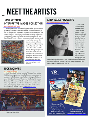 """Art Business News"" American Magazine 2013"