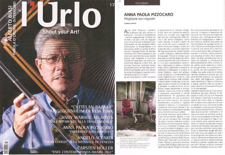 """L'Urlo"" Italian National Magazine 2011"