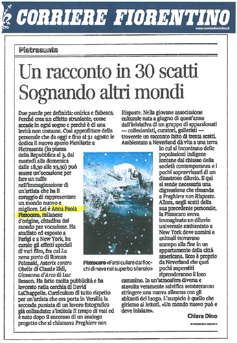 """Corriere Fiorentino"" Italian Local Newspaper 2012"