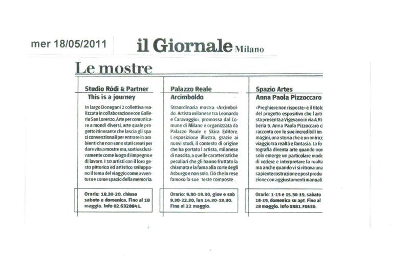 """Il Giornale"" Italian National Newspaper 2011"