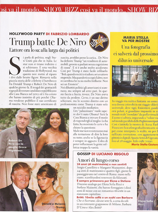 """Anna"" Italian National Magazine 2011"