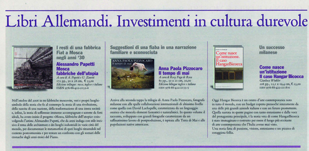 """Il Giornale dell'Arte"" Italian National Newspaper August 2012"