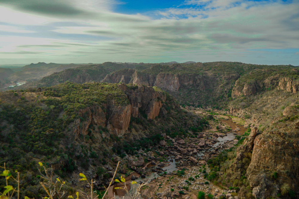 RIVER MOVEMENTS: Listen to the rush of the Luvuvhu River from this magnificent vantage point at Lanner Gorge.