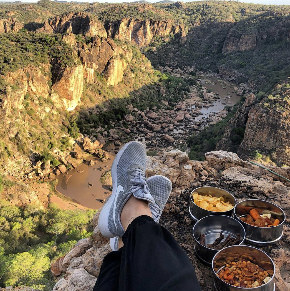 Lanner Gorge is one of our favourite spots for sundowners.   @liandi7   is pictured here soaking up the last rays of the day in the best possible way – with a drink in hand and snacks at the ready.
