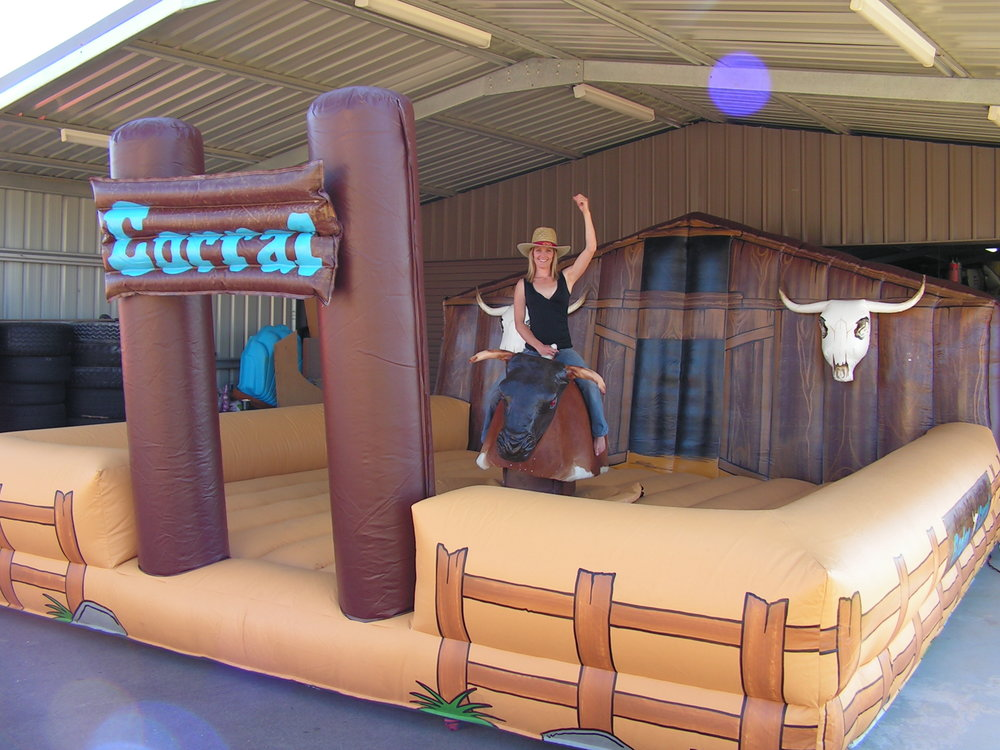 MECHANICAL BULL $495 (3 hour metro hire) including operator