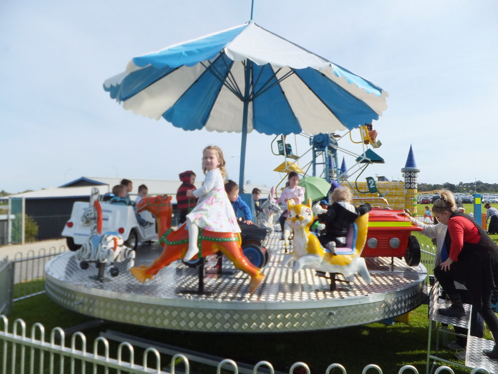 MERRY GO ROUND $880 (3 hour metro hire) including operator