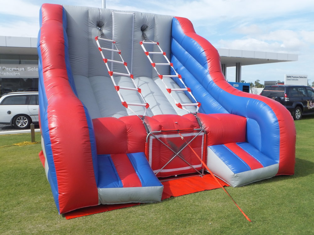 Ladder Challenge is free to hire as part of our Triple Bounce package deal - OR$200 as part of our Double Bounce package deal