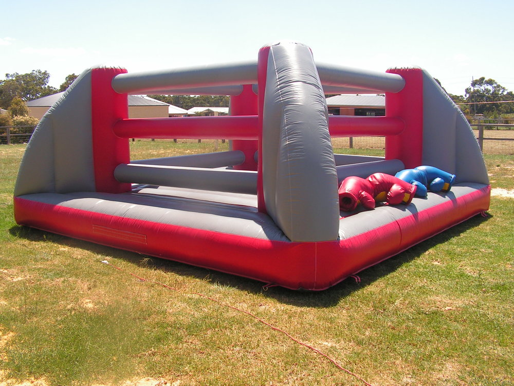 BOUNCY BOXING RING $385 (3 hour metro hire)