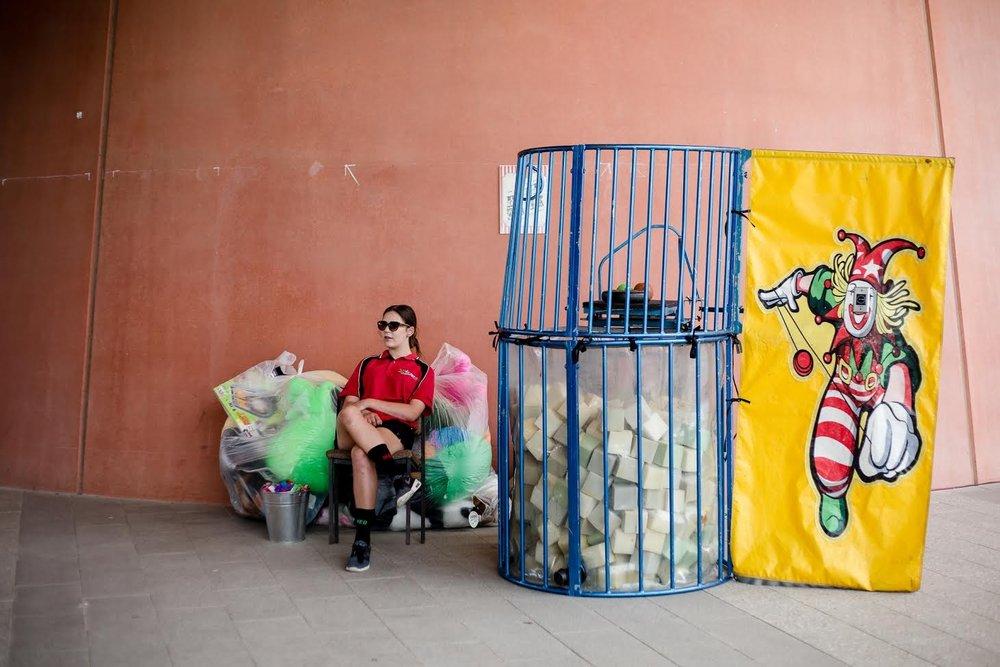 Clown Dunk Tank Foam or water filled -