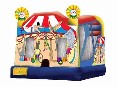 Happy Circus Combo Bouncy $440 (3 hour metro hire)