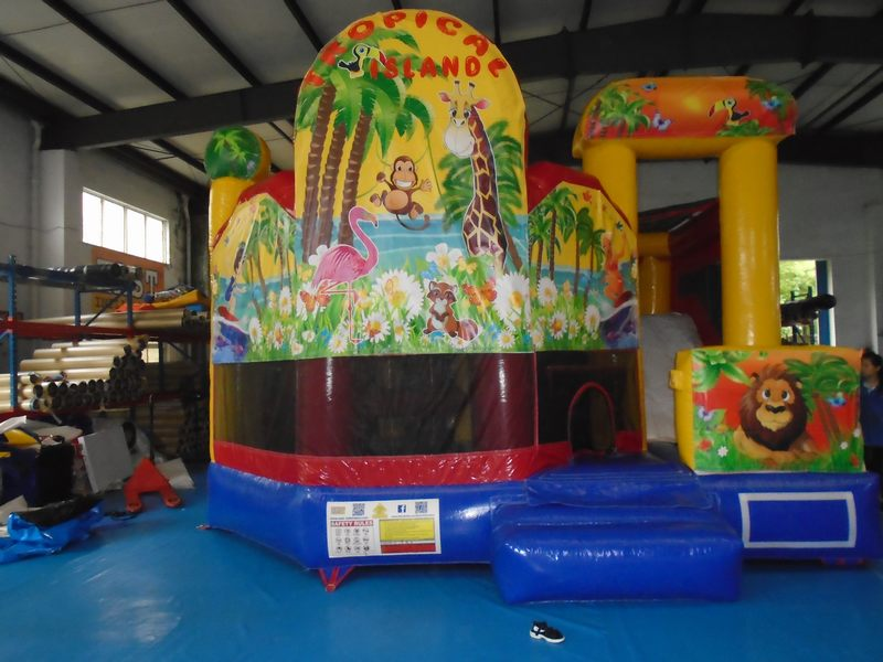 Tropical Island 5 in 1 Combo Bouncy $495 (3 hour metro hire)
