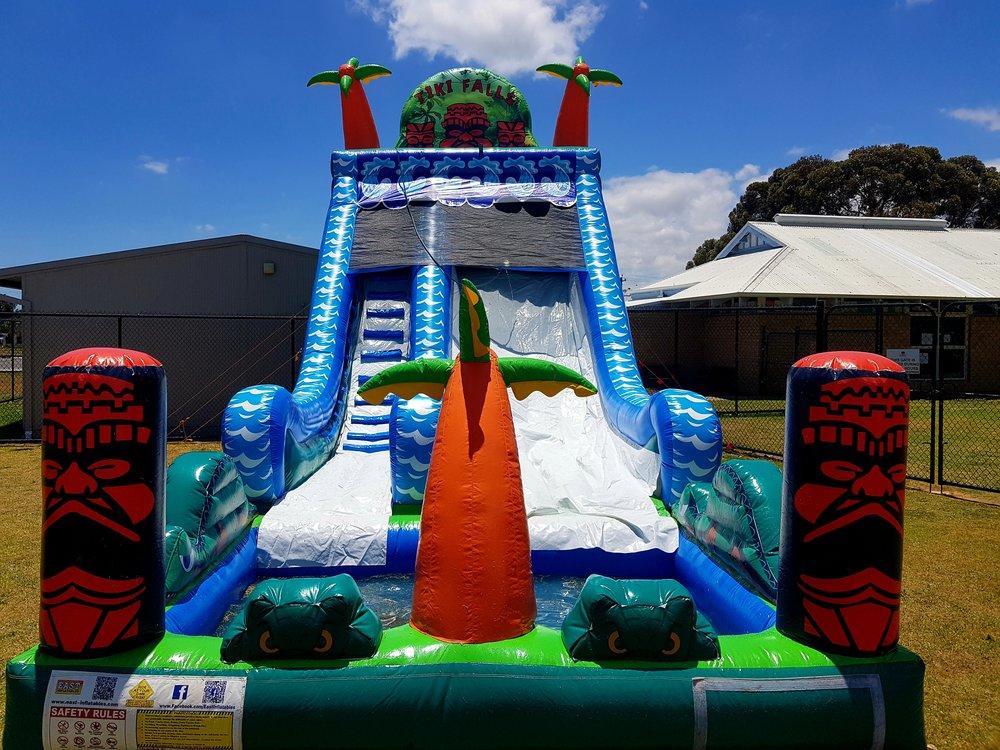 Tiki Falls Slide with pool -