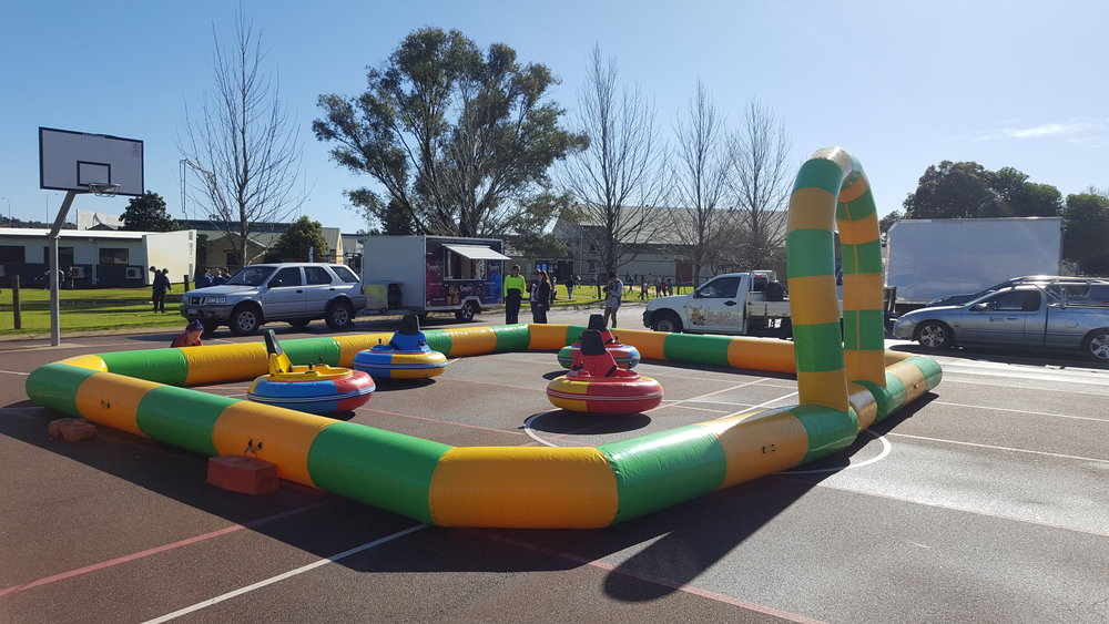Inflatable Bumper Cars - Comes with four inflatable cars and fence