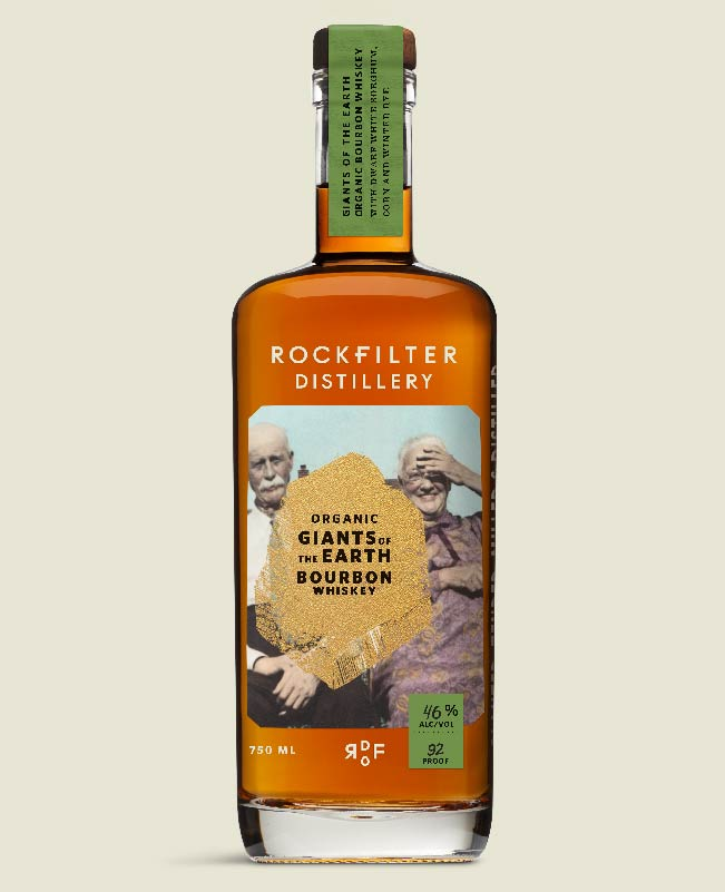Giants of the Earth Organic Bourbon Whiskey from RockFilter Distillery in Spring Grove, Minnesota