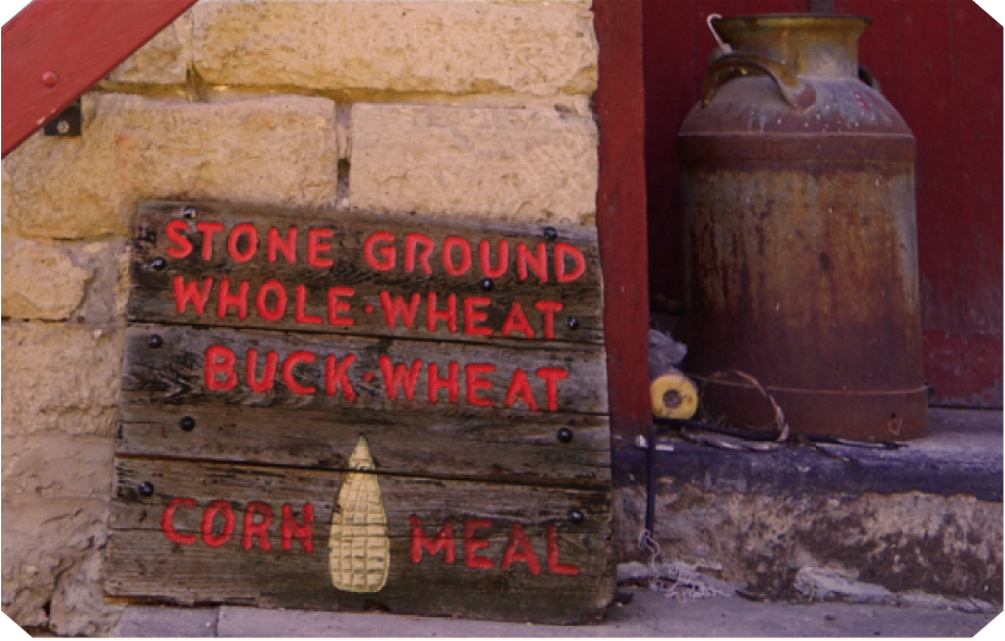 Stone Ground. Whole Wheat.  Buckwheat. Cornmeal. Schech's Mill in Spring Grove, MN, home of RockFilter Distillery.