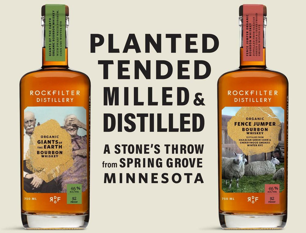 RockFilter Distillery: Planted, tended, milled, & distilled in Spring Grove, Minnesota.