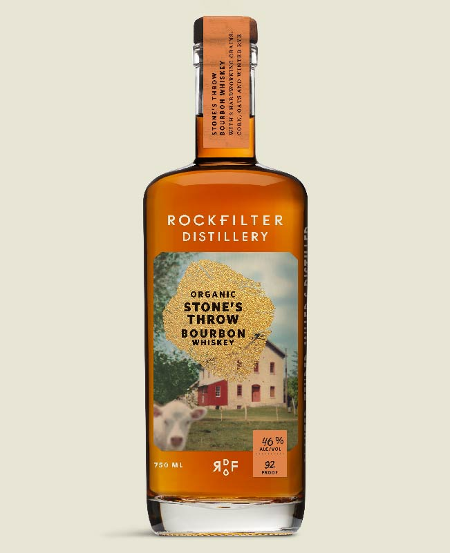 Stone's Throw Organic Bourbon Whiskey from RockFilter Distillery in Spring Grove, Minnesota