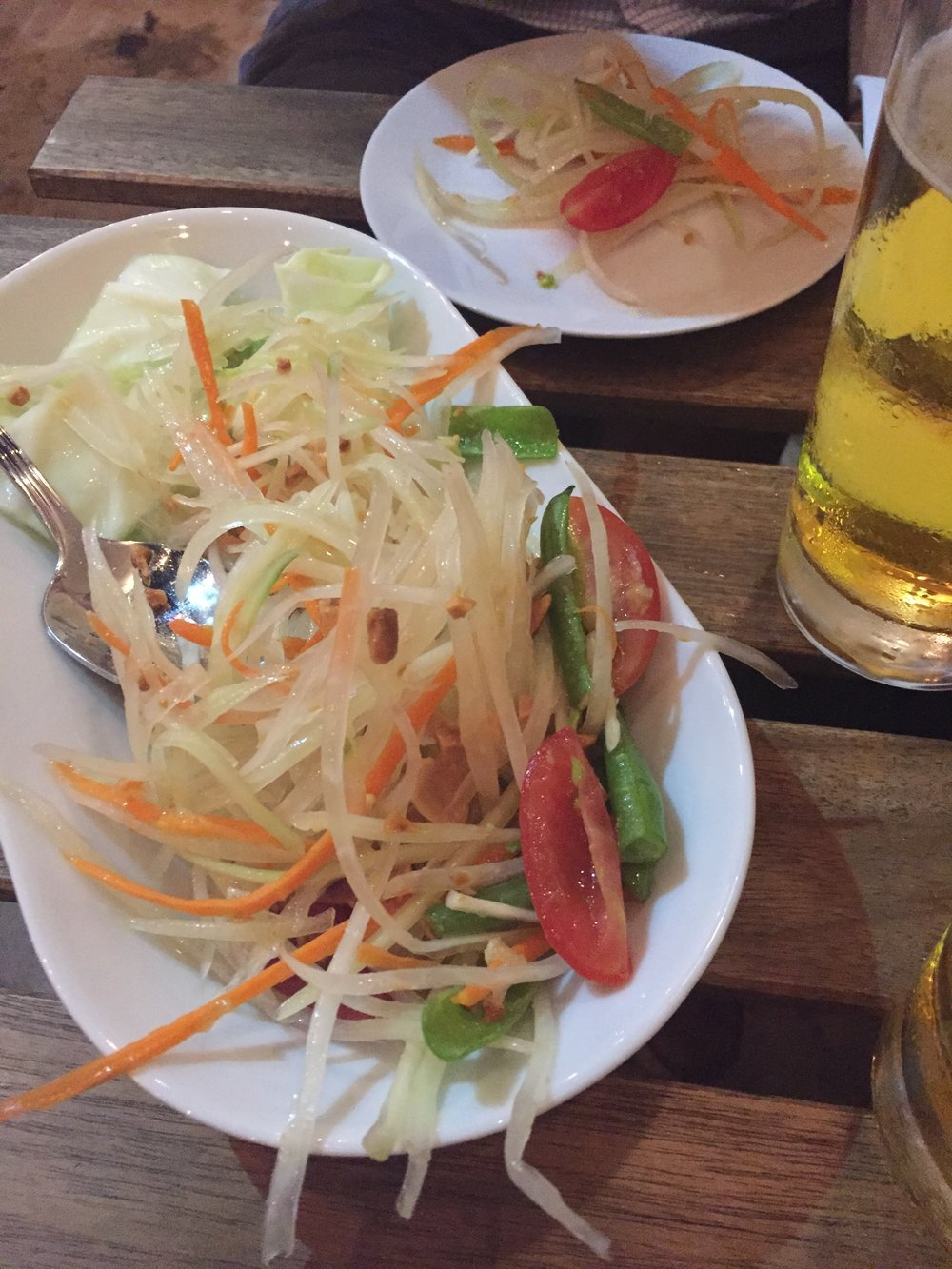 The freshest Green Papaya Salad @Lung Yai