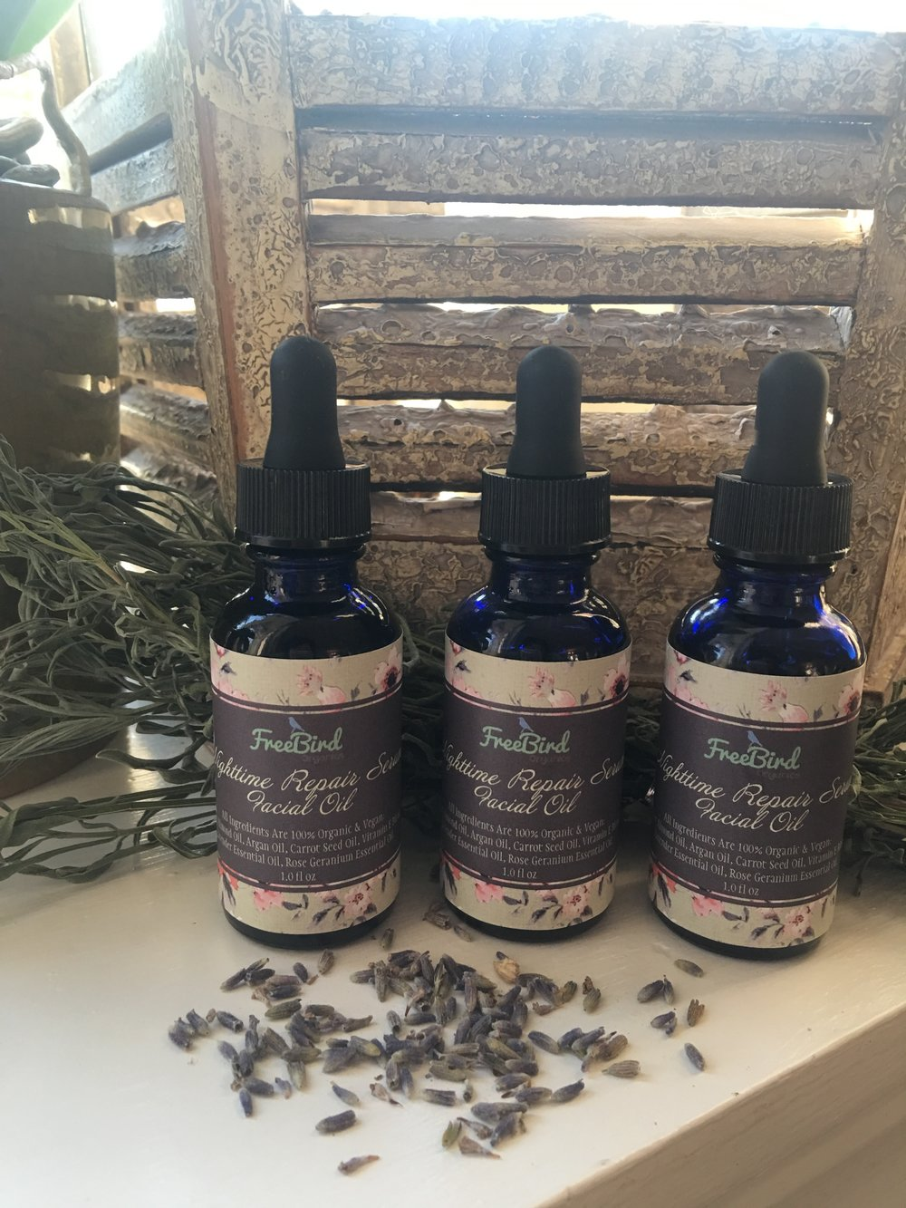 "FreeBird Organics ""Nighttime Repair Serum"""