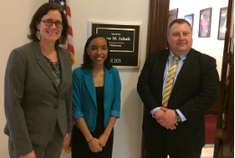 Julia Kirt and Brian Parsons with Senator Inhofe's Legislative Correspondent Dominque McKay