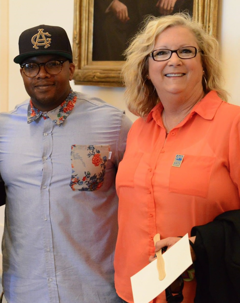 Gregory Arnold (OKC) & Angela Williams (Paoli) at OK Arts Day 2014