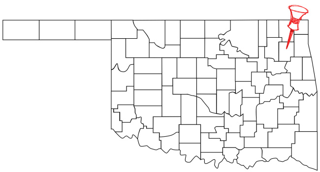 Pryor (population: 9,445) is located in Northeastern Oklahoma.